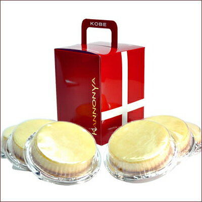 【注文殺到中につき配送日はご指定頂けません】【神戸名物】観音屋デンマークチーズケーキ6個入り