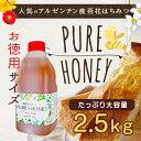 【50%OFF】純粋百花はちみつ アルゼンチン産 蜂蜜 PURE HONEY(2.5kg)大容量!業務用蜂蜜 ※お一人さま1点限り