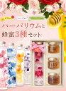 【母の日ギフト】蜂蜜3種とハーバリウムギフトセット Herbarium 癒しのインテリア 選べる5カラー ブリザーブド フラワ…