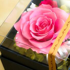 【送料無料】プリザーブドフラワーのBOXアレンジ*大きなバラ 卒業 入学 ホワイトデー 桜 新生活【楽ギフ_包装】