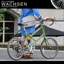 【送料無料】20インチ ミニベロ 14段変速 軽量 アルミフレーム スタンド ロードバイク ドロップハンドル 自転車 ヴァクセン WACHSEN bv-227
