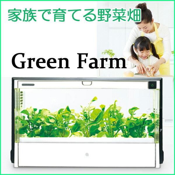 【送料無料】水耕栽培 キット LED 水耕栽培器 装置 スポンジ 肥料 種 家庭菜園 ユーイング グリーンファーム Green Farm