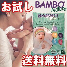 【送料無料】お試し2枚パック BAMBO Nature ベビー 無添加 紙パンツ 敏感肌 おむつかぶれ バンボネイチャー bn31012p