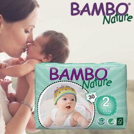 【送料無料】BAMBO Nature ベビー 無添加 おむつ 敏感肌 おむつかぶれ Mini 2号(3-6kg)30枚入り バンボネイチャー bn310132