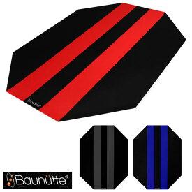 ゲーミング チェアマット フローリング ブラック 静音 PVC 木目 カーペット ジャギー bauhutte bcm-144