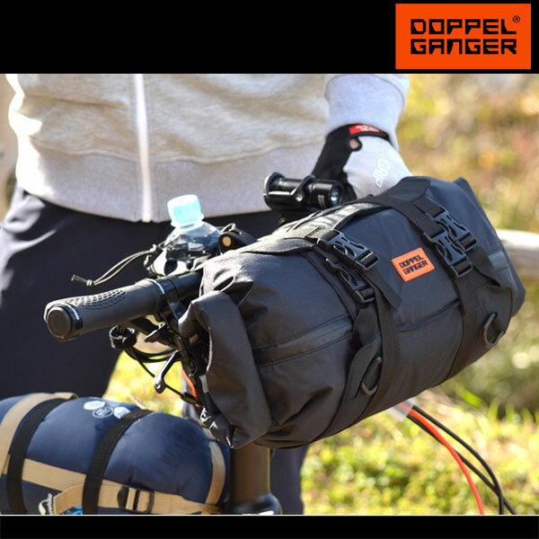 フロントバッグ ハンドルバッグ サイクルバッグ 自転車 大容量 ロードバイク ドッペルギャンガー DOPPELGANGER メガマウスハンドルバーバッグ dbf464-bk
