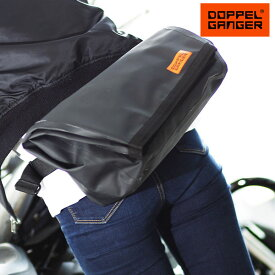 バイク サイドバッグ 防水 ツーリングバッグ doppelganger ドッペルギャンガー ターポリンシングルサイドメッセンジャーバッグ DBT509-BK