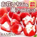 アイス ギフト 【 送料無料 】お花のようないちごアイス&苺アイスクリームセット (短冊のし) 内祝い 出産内祝い 快…