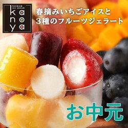 苺アイスと3種ひとくちジェラートセット