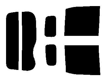 簡単ハードコートフィルム リヤガラス、リヤサイドガラス各色選択 デイズルークス B21A リヤセット カット済みカーフィルム