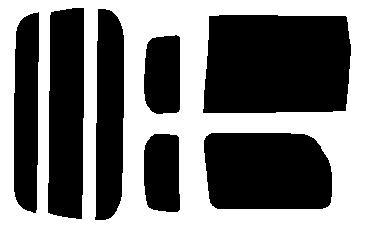 簡単ハードコートフィルム リヤセット ekワゴン H82W リヤドアスライドドア カット済みカーフィルム