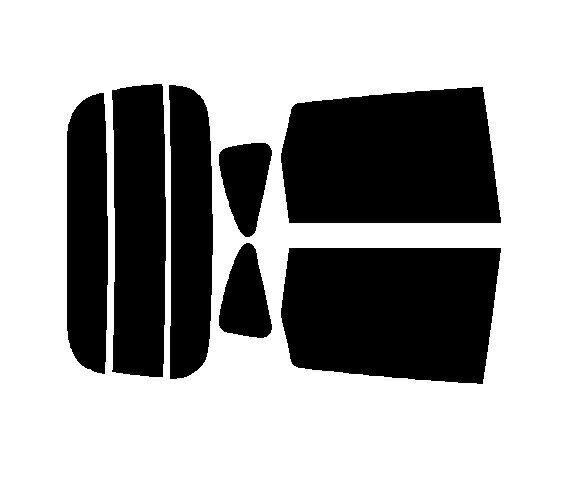 簡単ハードコートフィルム リヤセット eKワゴン B11W  カット済みカーフィルム