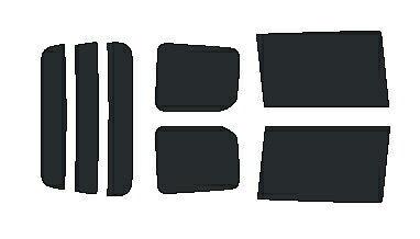 簡単ハードコートフィルム リヤセット VOXY ヴォクシー ZRR70G・ZRR75G・ZRR70W・ZZR75W カット済みカーフィルム