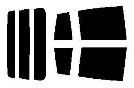 送料無料◎簡単ハードコートフィルム リヤセット ミラ 5ドア L250S・L260S カット済みカーフィルム