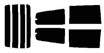 簡単ハードコートフィルム リヤガラス、リヤサイドガラス各色選択可能 セレナ VNC24・VC24・PNC24・PC24・TNC24・TC24・RC24  リヤセット カット済みカーフィルム