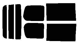 簡単ハードコートフィルム  リヤセット セレナ C25・NC25・CNC25・CC25 カット済みカーフィルム