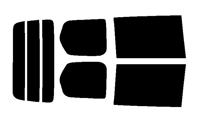 簡単ハードコートフィルム リヤセット セレナ C26・FNC26・HFC26・NC26・FC26 カット済みカーフィルム