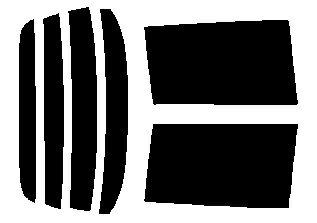 簡単ハードコートフィルム リヤセット フリードスパイク GB3・GB4  カット済みカーフィルム