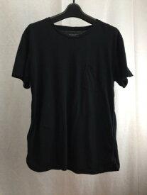 nonnative ノンネイティブ NN-C2715 DWELLER TEE SS C/L MARBLE JERSEY 胸ポット 半袖Tシャツ 1 ブラック/トップス【中古】[☆3]