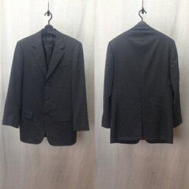 GUCCI グッチ セットアップ スーツ ウール シングル テーラード 3B ジャケット パンツ スラックス 無地 44 チャコールグレー/セットアップ【中古】[☆3]