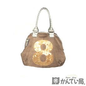 muta【ムータ】 8バッグ トートバッグ ハンドバッグ ショルダーバッグ 2WAYバッグ ベージュ ゴールド スエード レディース メンズ 鞄 【中古】【USED-B】【質屋かんてい局名古屋西店】
