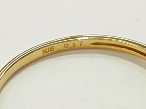 レディース【中古】ダイヤリングK18D0.17ctゴールド#9.5約9.5号指輪仕上げ済み【楽ギフ_包装選択】