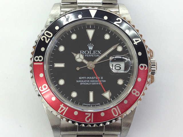 メンズ時計【中古】 ROLEX ロレックス  GMTマスター2 16710(T番)1996年頃 オーバーホール済み 新品仕上げ済み【楽ギフ_包装選択】
