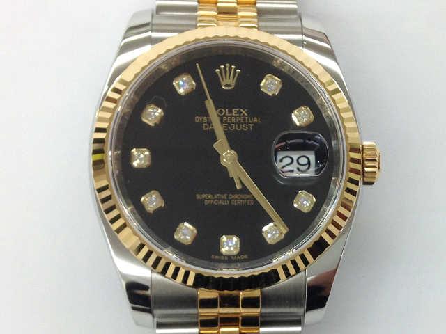 メンズ時計【中古】 ROLEX ロレックス デイトジャスト 10Pダイヤ 116233(E番)1990年頃【楽ギフ_包装選択】