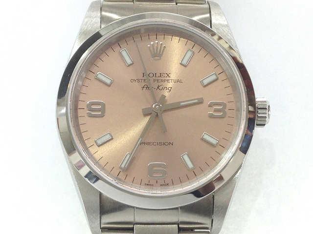 メンズ時計【中古】 ROLEX ロレックス エアキング 14000(U番)1997年頃【楽ギフ_包装選択】