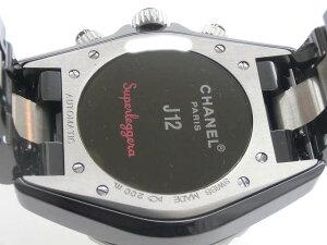 メンズ時計【中古】CHANELシャネルJ12スーパーレッジューラH1624自動巻き【楽ギフ_包装選択】