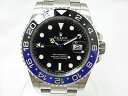 【中古】ROLEX ロレックス 116710BLNR GMTマスター2 ランダム番 自動巻き メンズ 黒文字盤 青黒ベゼル ブル…