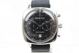 BRISTON Clubmaster Vintage SS Chronograph (クラブマスター ヴィンテージSS クロノグラフ) ブラック 17140.PS.V.1.NB メンズ レディース ユニセックス 腕時計 【中古】