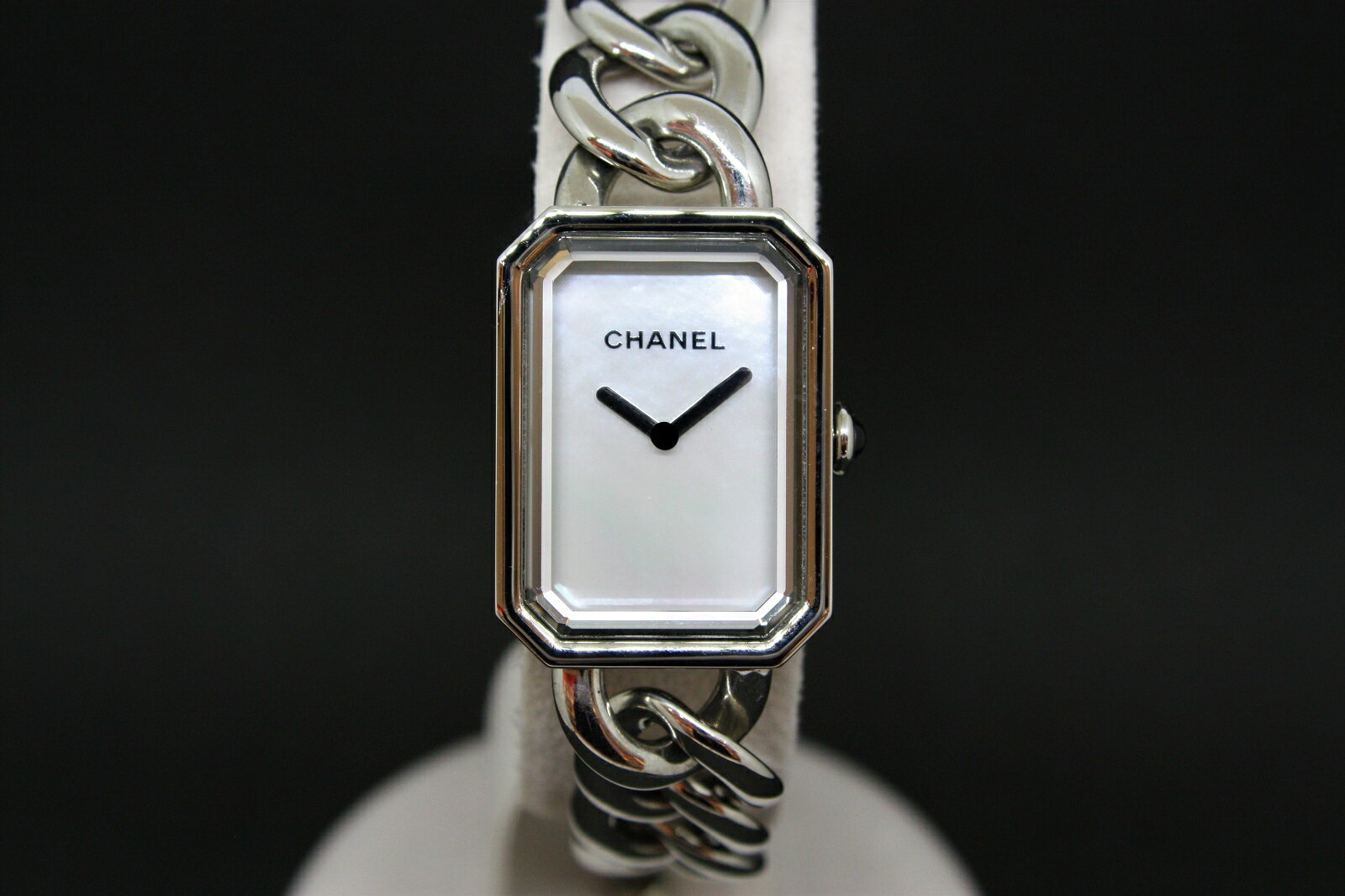 【ギャラ有】CHANEL シャネル プルミエール H3251 ホワイトシェル文字盤 SS ステンレススチール クオーツ レディース 腕時計 【中古】