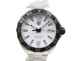【☆未使用品☆】TAG−HEUER フォーミュラ1 WAZ1111.BA0875 クオーツ デイト SS ステンレススチール ホワイト メンズ 腕時計【中古】