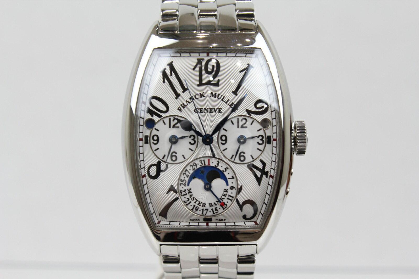 【OH済み】FRANCK MULLER フランクミューラー マスターバンカー ルナ 6850MB L DT 自動巻き デイト クロノグラフ ムーンフェイズ SS ステンレススチール メンズ 腕時計【中古】