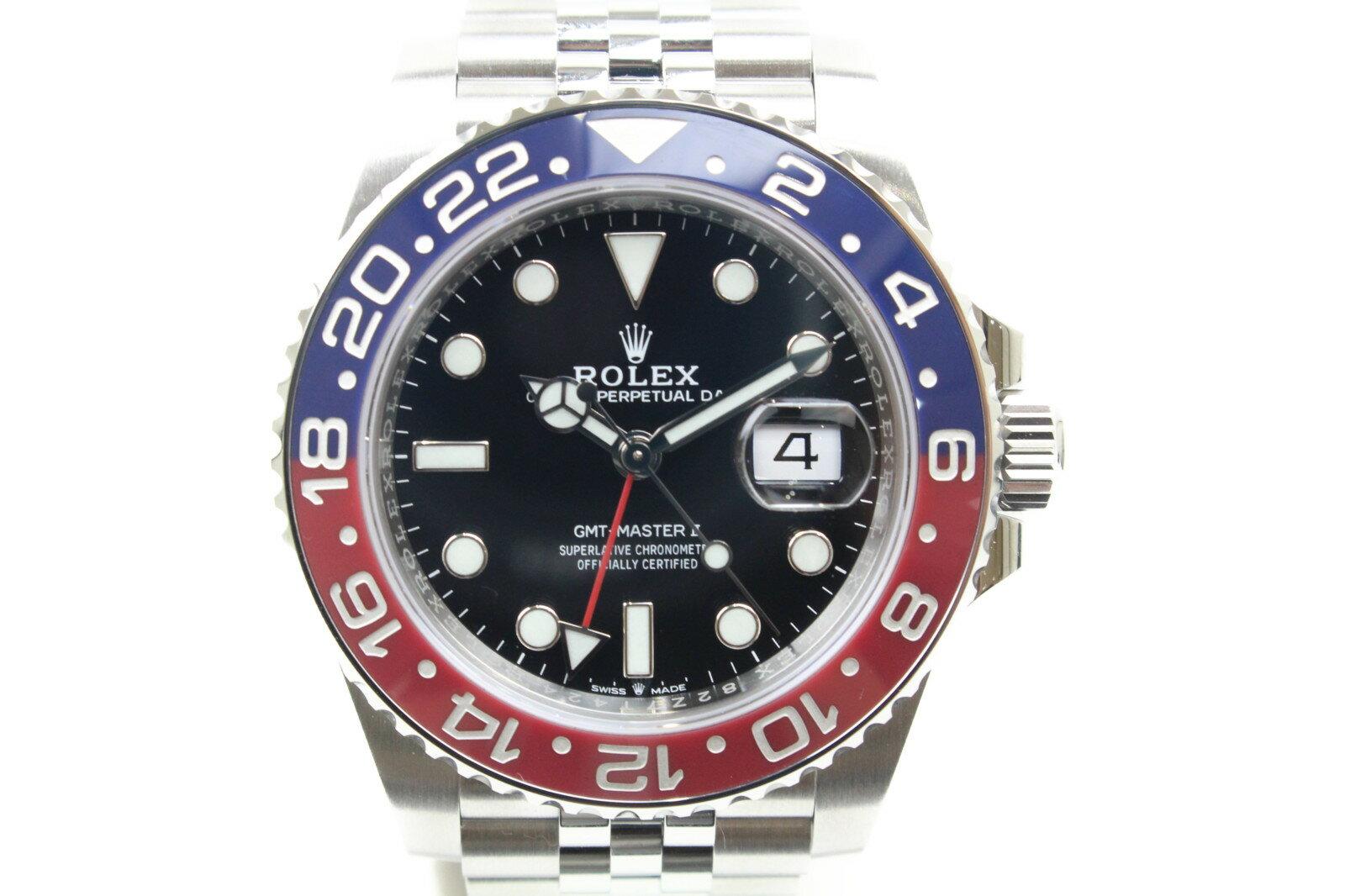 【2018年ギャラ】ROLEX ロレックス GMTマスターII 126710BLRO 自動巻き SS ステンレススチール ジュビリーブレス 赤青 ペプシベゼル メンズ 腕時計【中古】