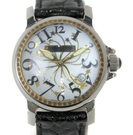 Ritmo Latino STELLA(ステラ) D3EB20GS ステンレススチール SS 革 レザー ベルト クォーツ ホワイト ゴールド イタリア 星 スター オシャレ レディース ウィメンズ プレゼント 腕時計 【中古】