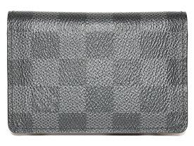 LOUIS VUITTON オーガナイザー・ドゥ・ポッシュN63143 ダミエ グラフィット ダークグレー系 レディース メンズ ユニセックス 名刺入れ カードケース プレゼント包装可