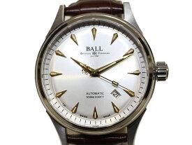 【箱・ギャラあり☆】 BALL ファイアーマンレーサークラシック NM2288CLJSL 7316*** ステンレススチール 革ベルト 自動巻き シンプル おしゃれ 腕時計 メンズ レディース ユニセックス 【中古】