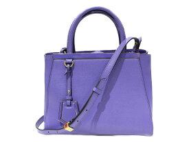 FENDI プチトゥジュール   パープル レザー レディース メンズ ユニセックス ハンドバッグ ショルダーバッグ 2WAY 紫 個性的  プレゼント包装可 【中古】