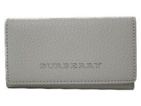 【箱あり】BURBERRY 4連キーケース レザー ホワイト レディース メンズ ユニセックス キーケース プレゼント包装可 【中古】
