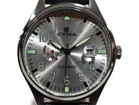 【中古品★】CYMAオートマチック CS-1001-SV   レザー 自動巻き レディース メンズ ユニセックス おしゃれ 人気 腕時計 時計 プレゼント包装可【中古】