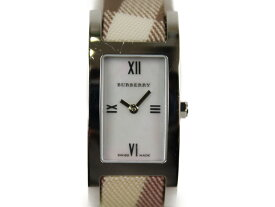 【ギャラ有】BURBERRY バーバリー BU1024 クオーツ SS シェル文字盤 チェック  レディース 腕時計【中古】