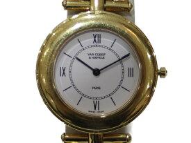 Van Cleef&Arpel ヴァンクリーフ&アーペル 13107 クオーツ 18KYG 金無垢 ホワイト レディース 腕時計【中古】