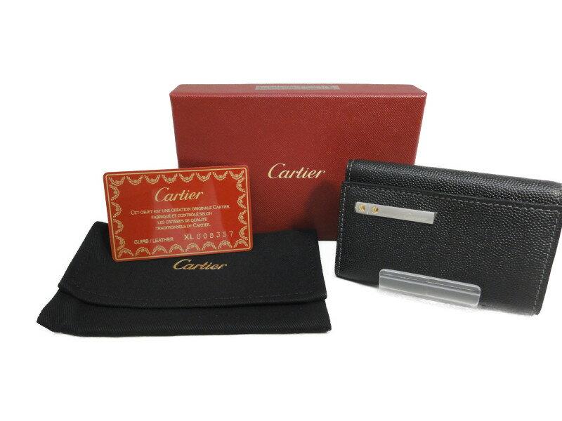 CARTIER カルティエ L3000775 6連キーケース ブラック レデイス メンズ 【中古】