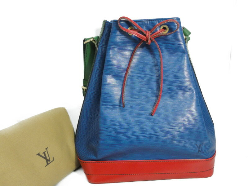 LOUIS VUITTON ルイ・ヴィトン エピ ノエ トリオロール ブルー×レッド×グリーン ショルダーバッグ 【中古】