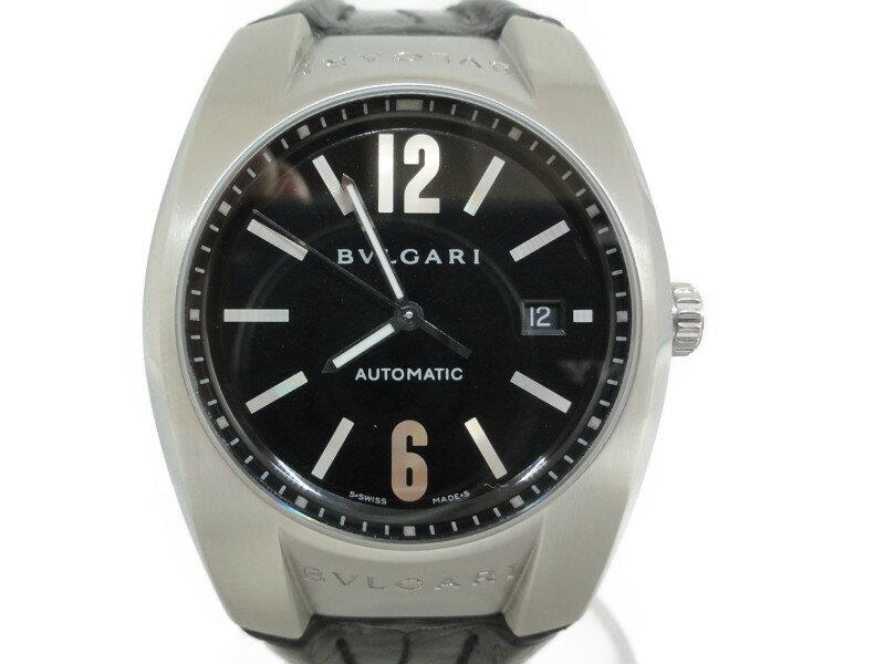 BVLGARI ブルガリ 時計 メンズ エルゴン EG40S 自動巻き SS 革ベルト 【中古】