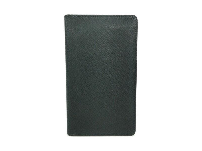 LOUIS VUITTON ルイヴィトン ポルトシェキエカルトクレディ M3041P タイガ グリーン カード・札入れ 二つ折り長財布 【中古】