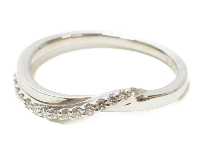 PONTE VECCHIO ポンテヴェキオ Pt900 プラチナリング ダイヤモンド 指輪【中古】