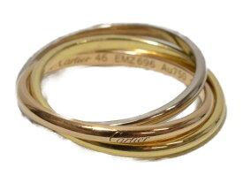 Cartier カルティエ トリニティリング スリーカラーゴールド 指輪 ホワイトゴールド/イエローゴールド/ピンクゴールド Au750 46 6号 レディース【中古】